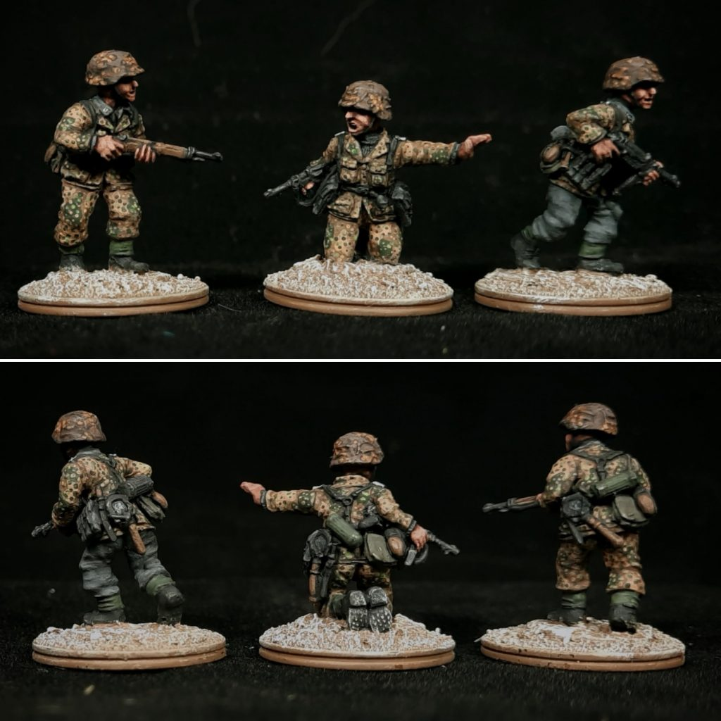 20mm Waffen-SS Grenadier Platoon Painted - Plastic Soldier Company