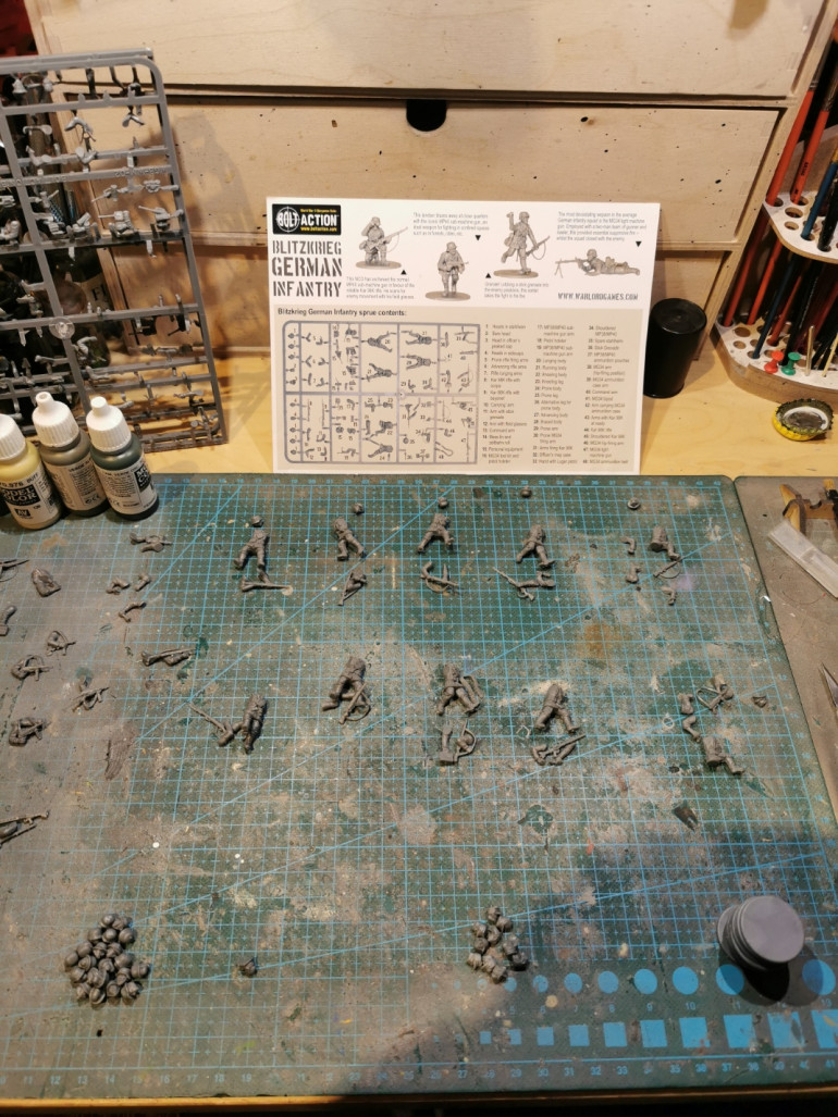 assembling first run of soldiers