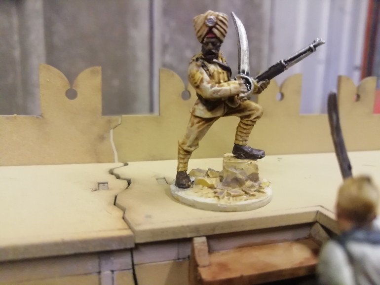 Wargames illustrated giants in miniature interpretation of havildar Ishar Singh. In 1897 21 Sikh soldiers held s fort against ten thousand afghans. The battle of Saragarhi became one of the most famous last stands in history