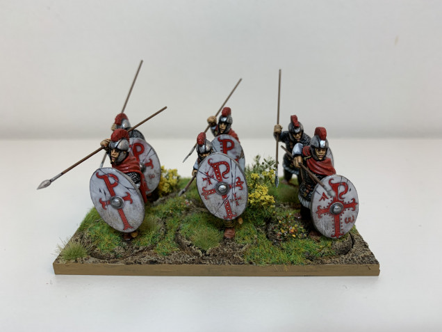 The completed Group on their sabot base