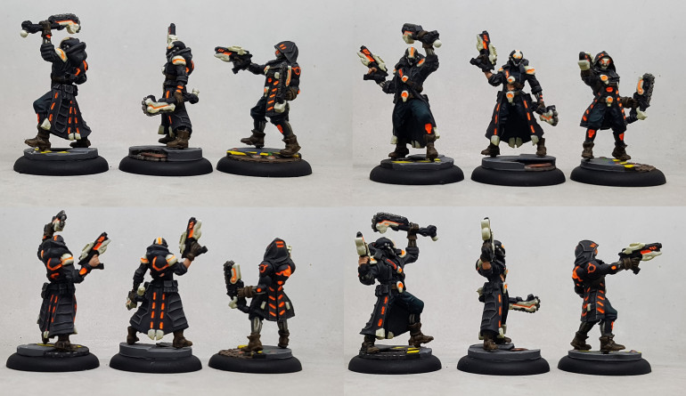 3 man Unit of Vassal Reavers for the Aerternus Continuum from Warcaster