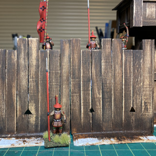 Distressing the wood fort today