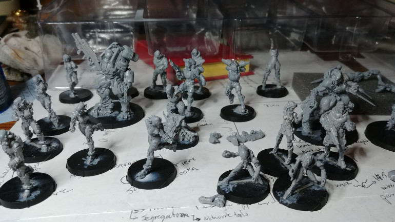 Here's a pic of the current force all primed up in grey.