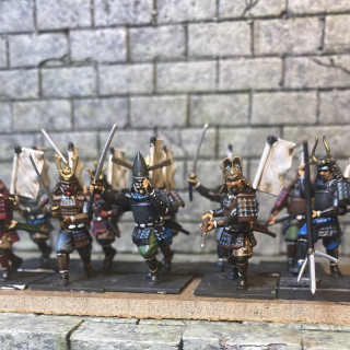 Finished painting a 10 Samurai Today