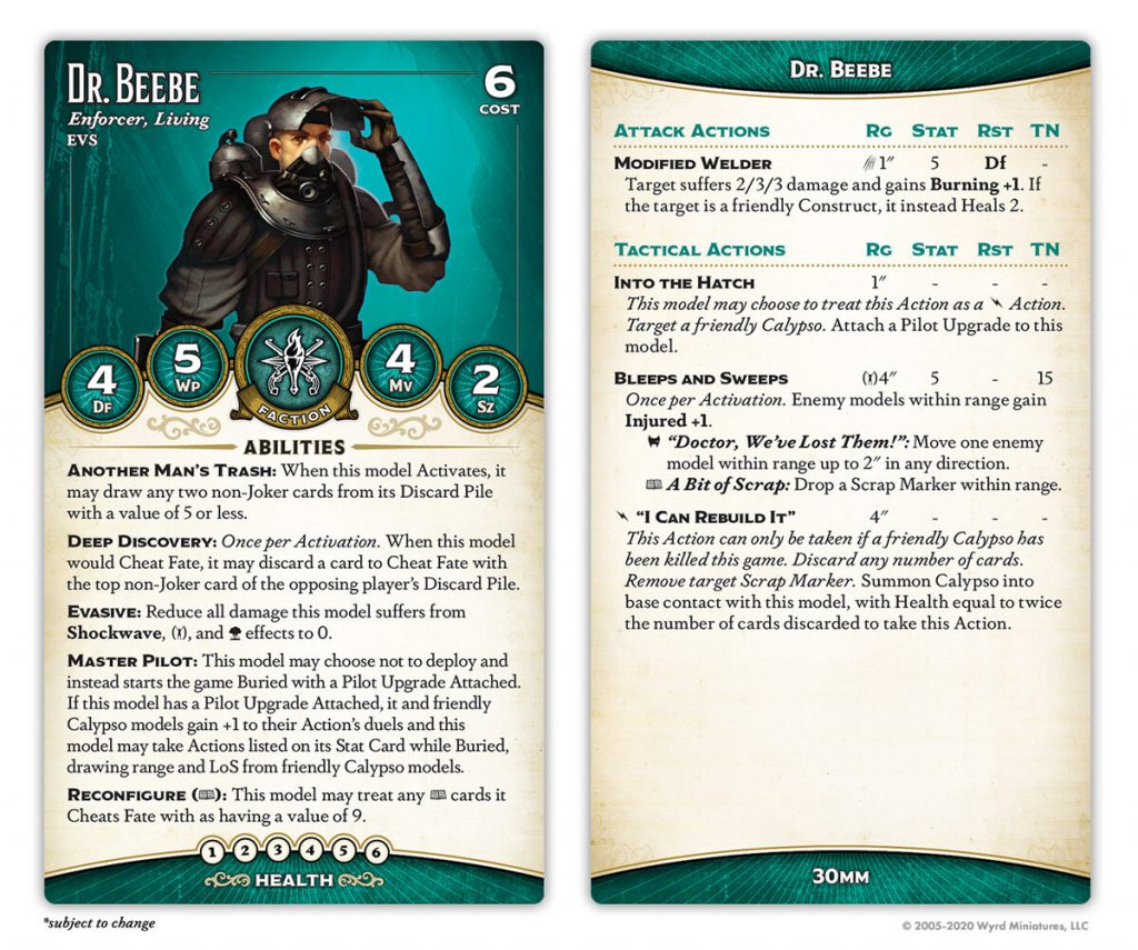 Dr Beebe Card - Malifaux