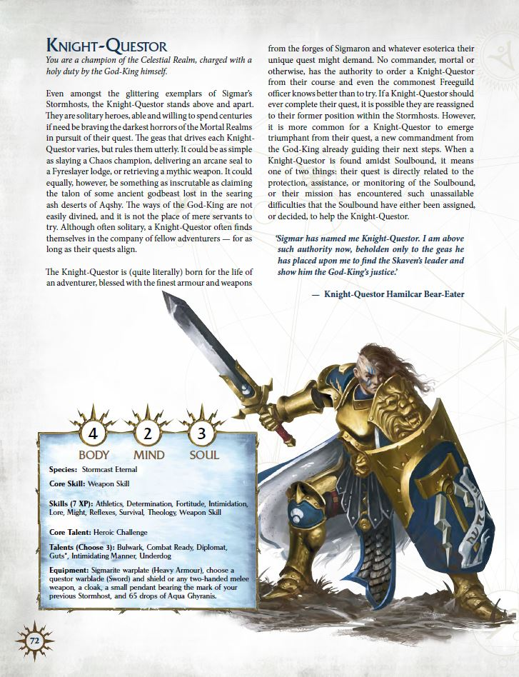 Knight Questor - Cubicle 7