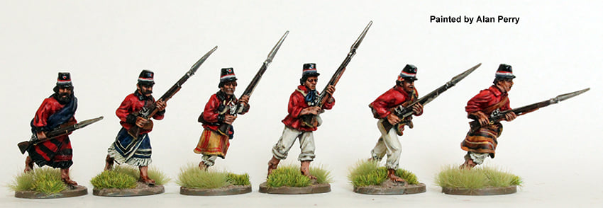 Paraguayan Infantry Attacking - Perry Miniatures