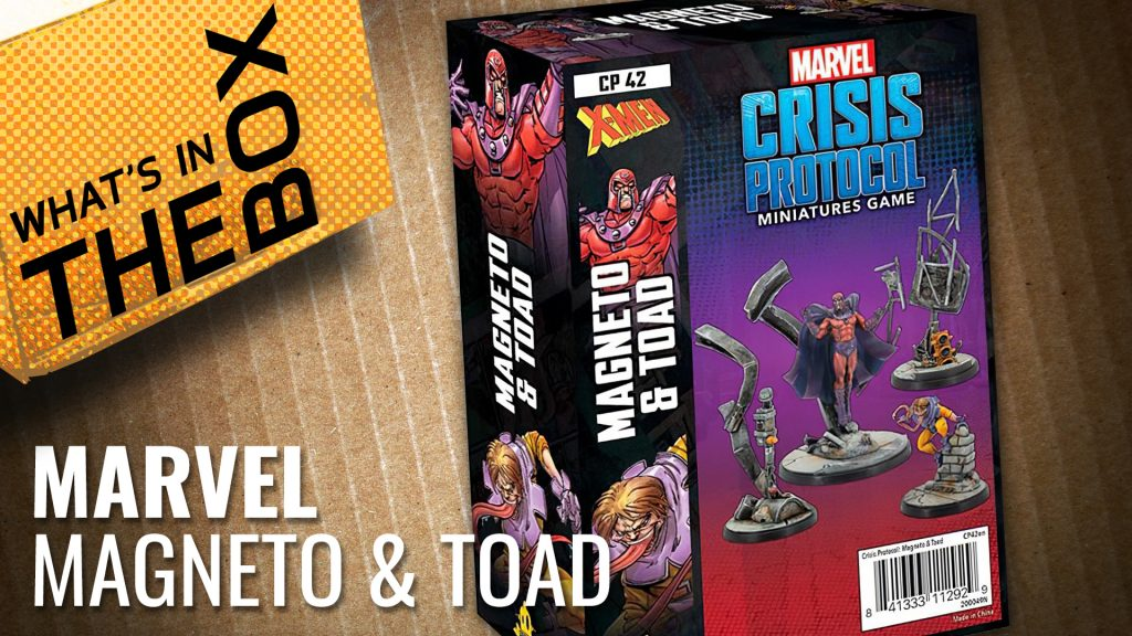 Unboxing: Marvel Crisis Protocol - Magneto & Toad