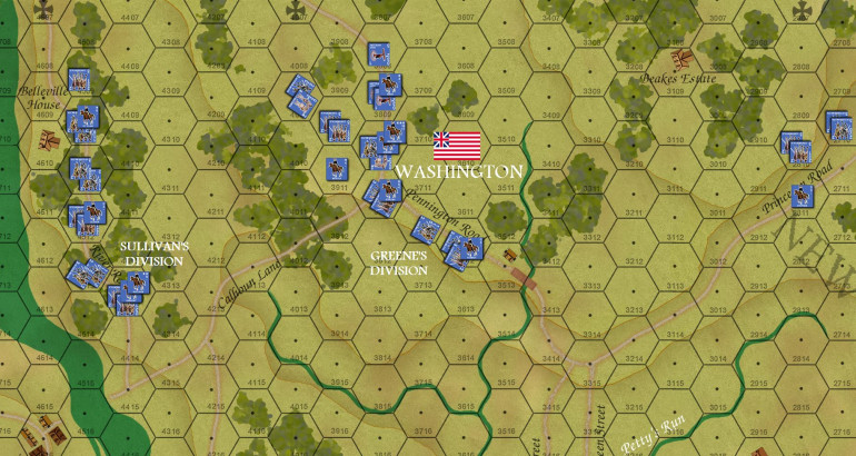 The Americans make their Turn 01 movement, with historical units, routes, and march orders.