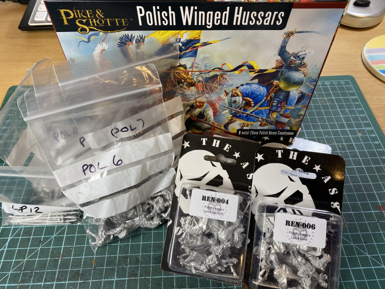 My first excited purchases of Polish Winged Hussars - Warlord, TAG  and Foundry.