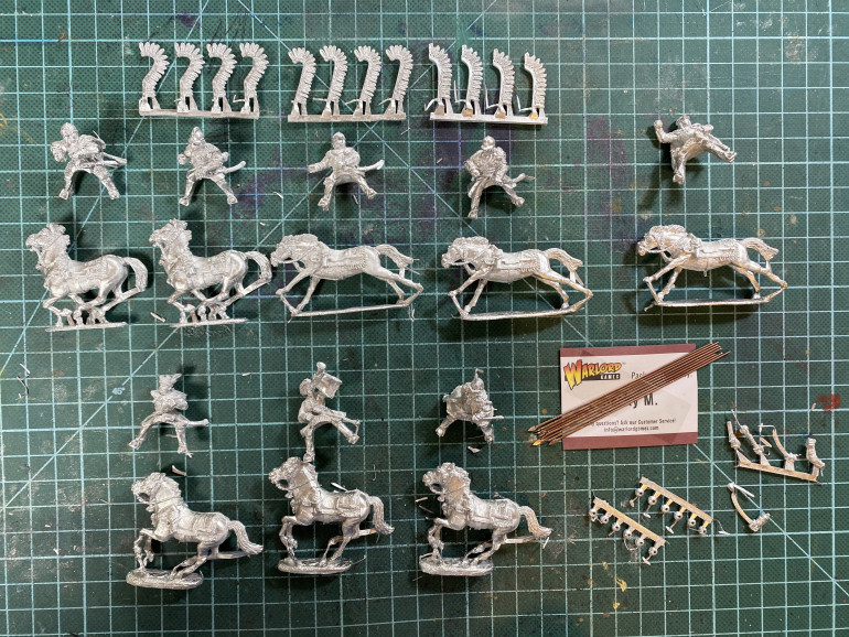Polish Hussars from Warlord Games. Brass lances much appreciated!
