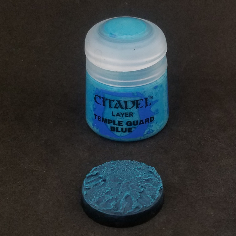 Then a light drybrush of temple guard blue
