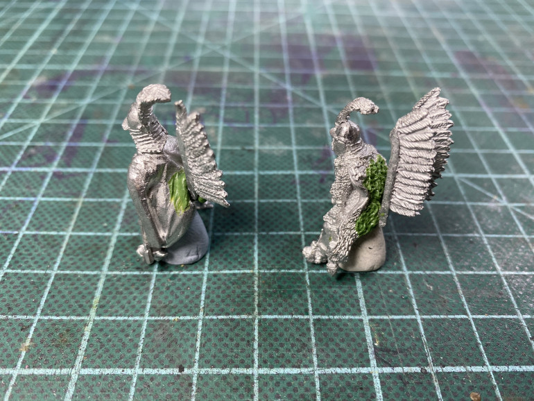 Some simple conversion work to move the wings to be saddle mounted rather than than on the riders' backs.