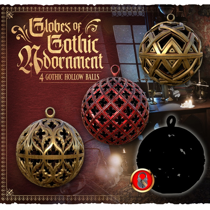 Globes Of Gothic Adornment - Raging Heroes