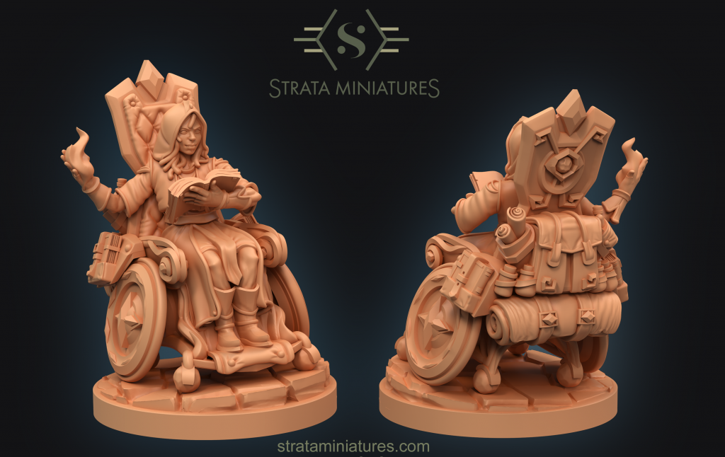 Half Elf Wizard - Strata Miniatures