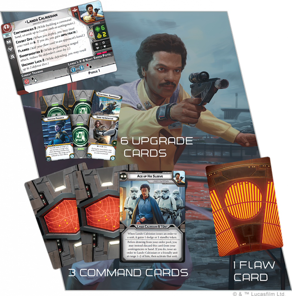 Lando Calrissian Cards New - Star Wars Legion