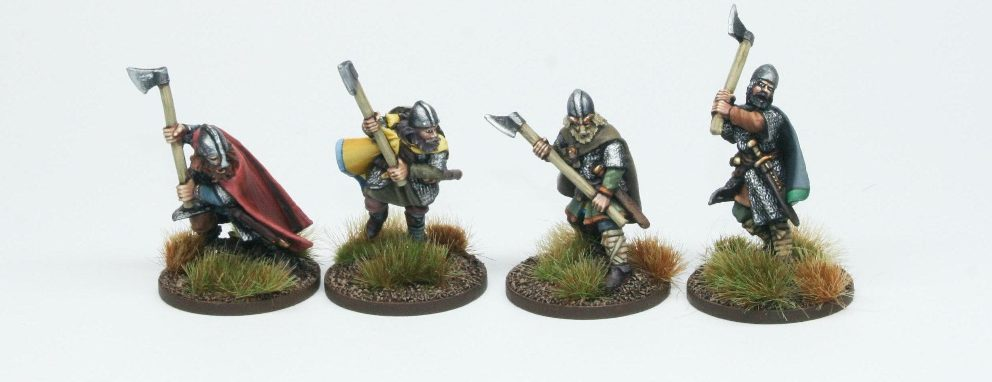 Late Saxon Huscarls With Dane Axes - Footsore Miniatures & Games