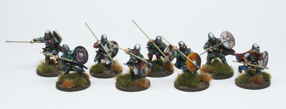 Late Saxon Huscarls With Spears - Footsore Miniatures & Games