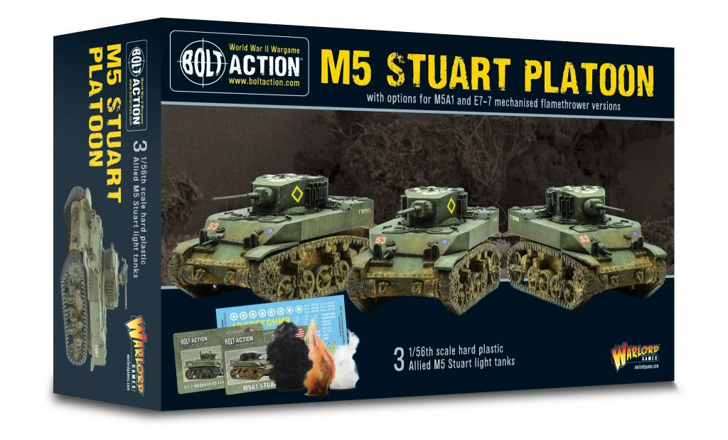 M5 Stuart Platoon - Bolt Action