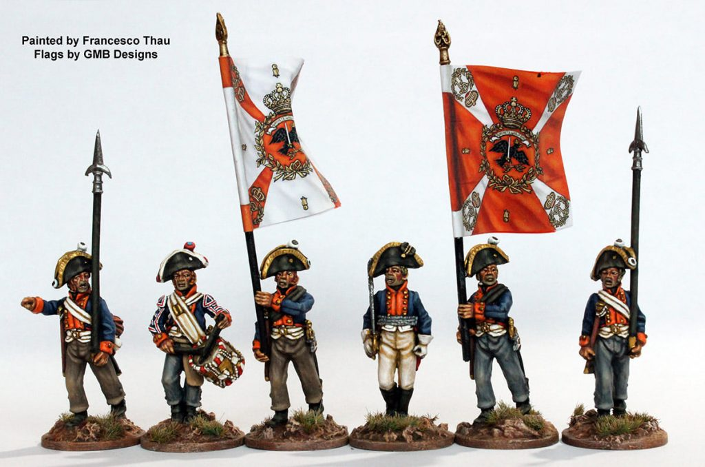 Musketeer Command Marching - Perry Miniatures