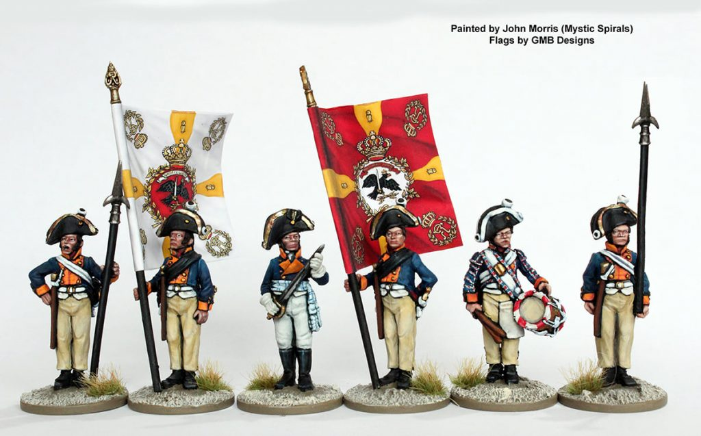 Musketeer Command Standing - Perry Miniatures