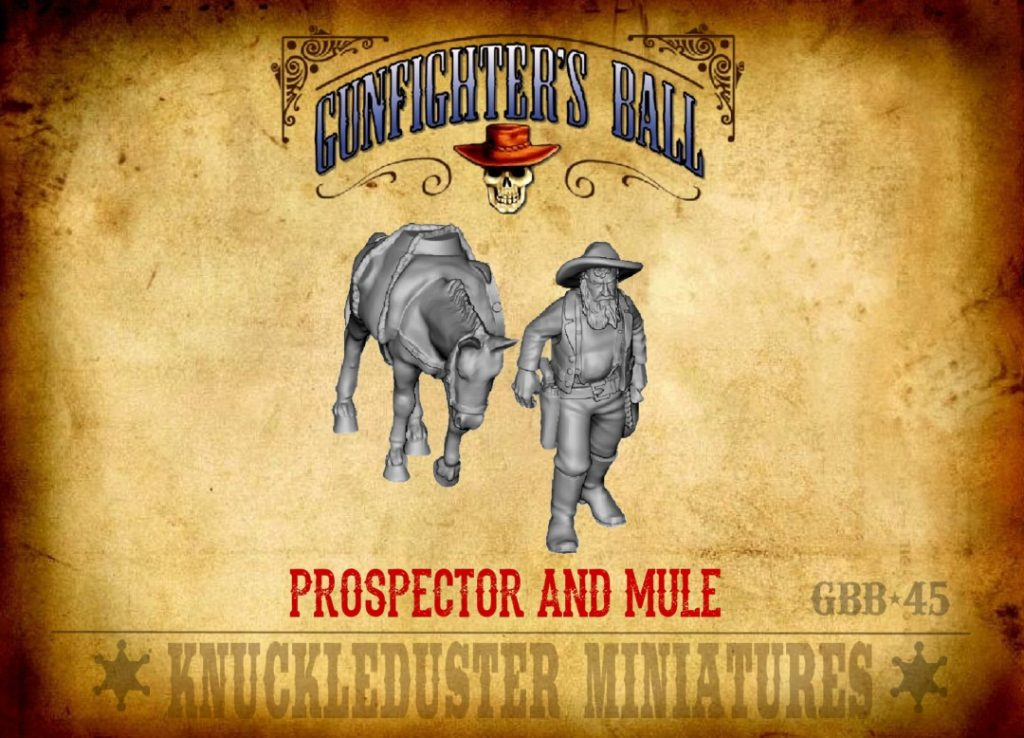 Prospector & Mule - Knuckleduster Miniatures