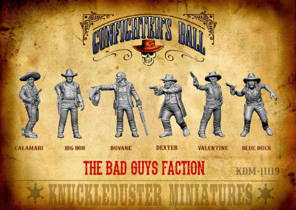 The Bad Guys Faction - Knuckleduster Miniatures