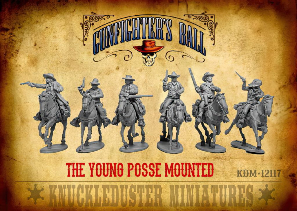 The Young Posse Mounted - Knuckleduster Miniatures