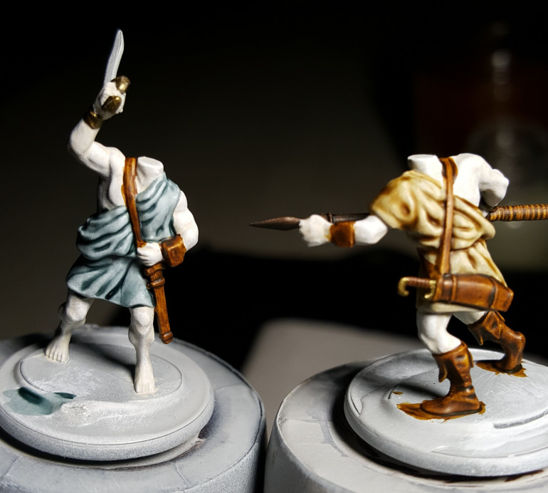 Contrast paint works great for doing clothes. Next step is to do the skin.