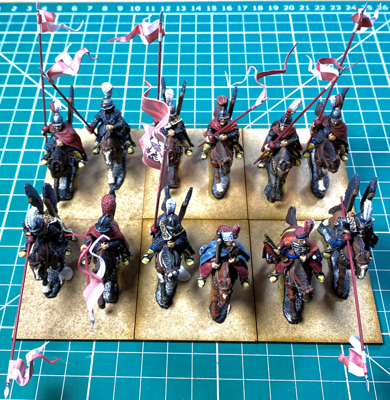 Hussars glued to MDF bases from Warbases.
