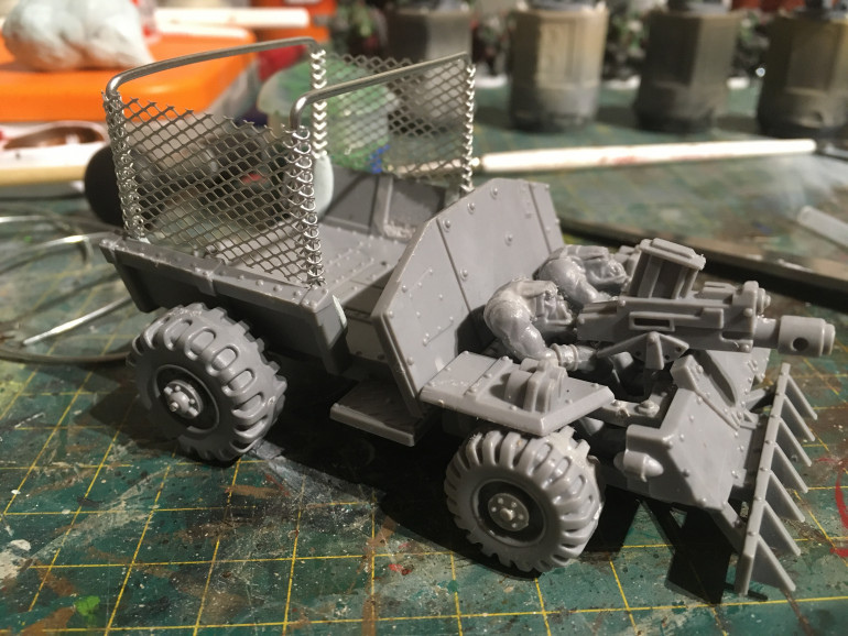 add a basic frame to the cargo area