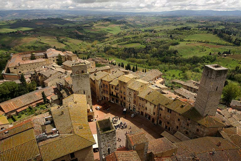 The Piazza of San Gimignano
