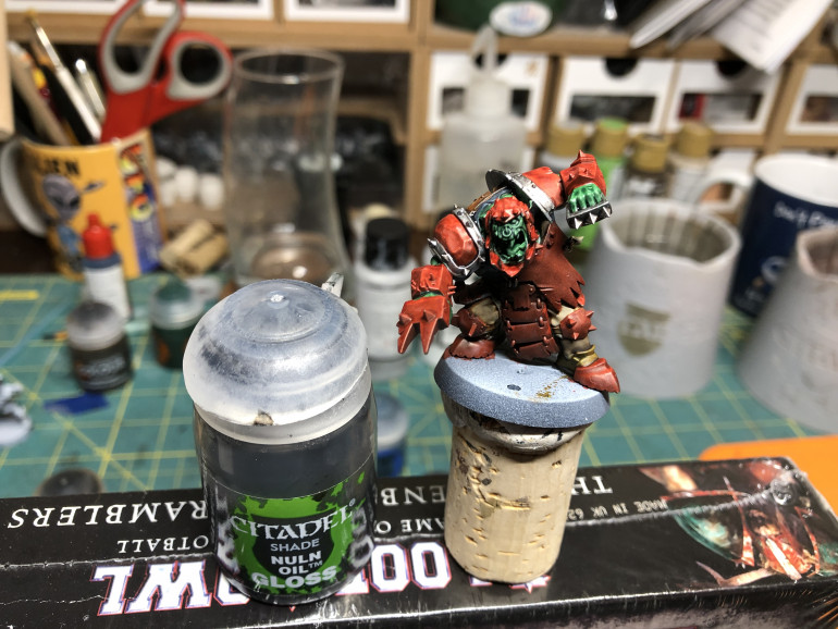 If you have some Nuln Oil Gloss, and I suggest you get some as it works magic on metal surfaces while retaining the shine, apply it to any raw metal surface.