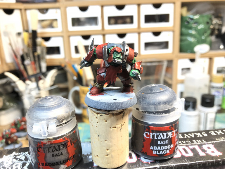 Make certain top pick which armor plates you wish to leave bare rather than painted red.