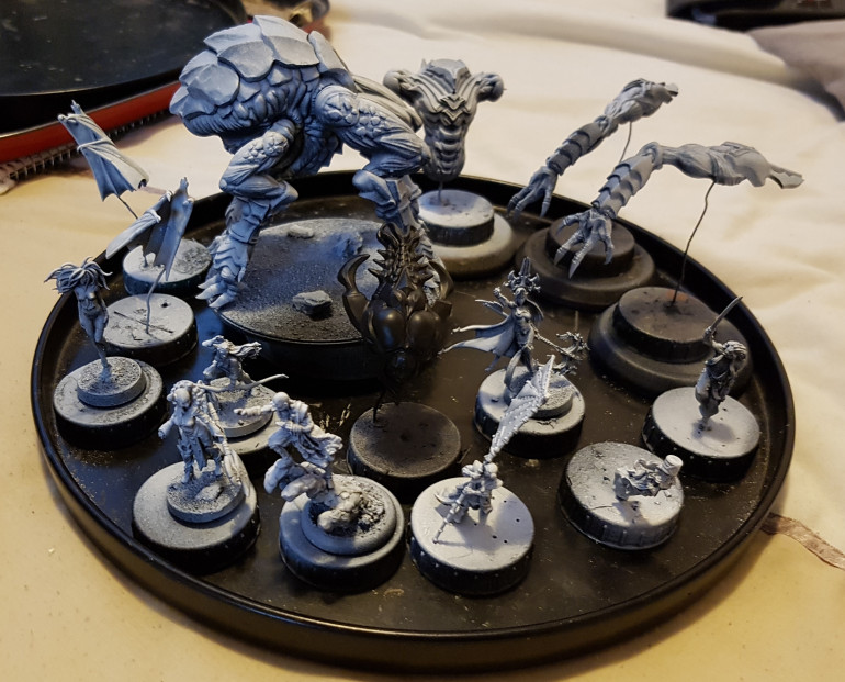 My tray of recently primed minis