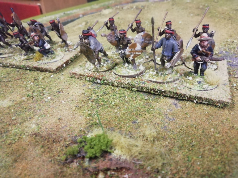 At the actual battle the native contingent sprang the Zulu ambush and their British officer gave the order to fire. Unfortunately he wasn't used to the language and gave the order to fall back and was surprised to see his men run away.