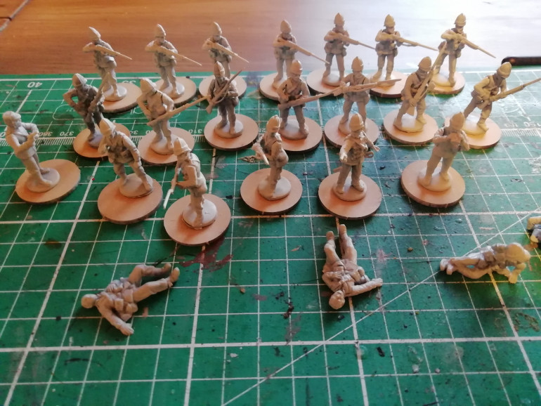 Next I have some infantry to add. Going to see how they look with contrast