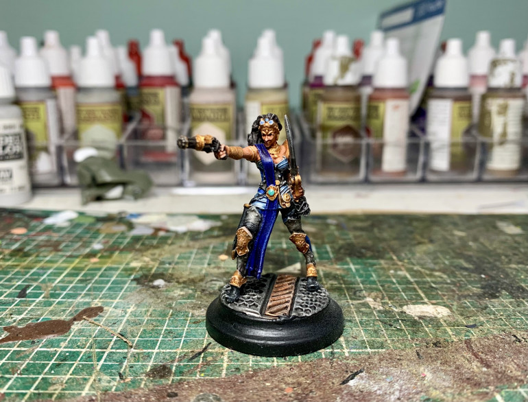 And she's done, slightly tricky one to paint as a lot of detail but pleased with how she's turned out.