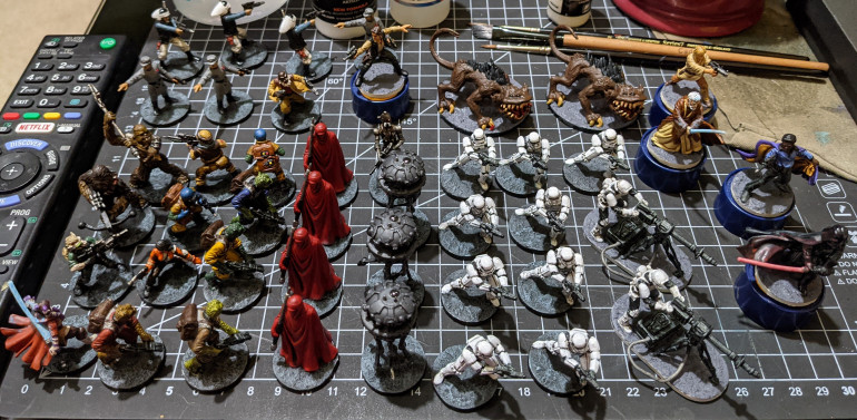 46 of 48 models painted... ready to play the app-assisted game solo