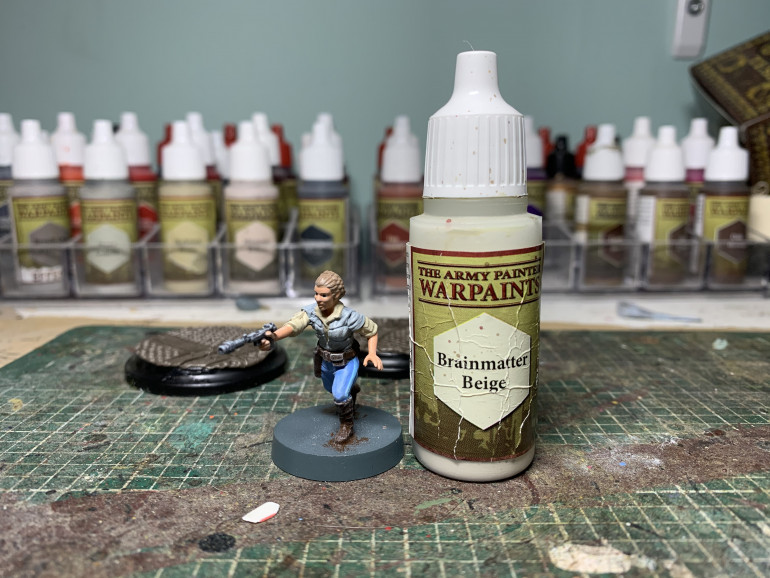 The all important drybrush step!