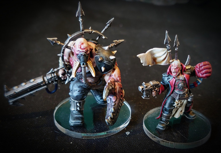 Traitor Commissar and Chaos Ogryn