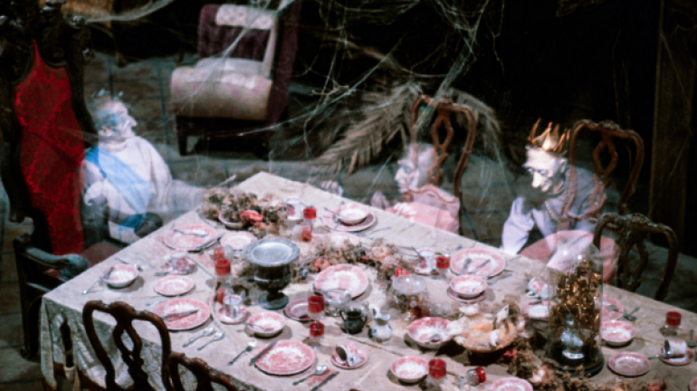 This is the only ghostly dinner party image I can find.  I thought there'd be plenty