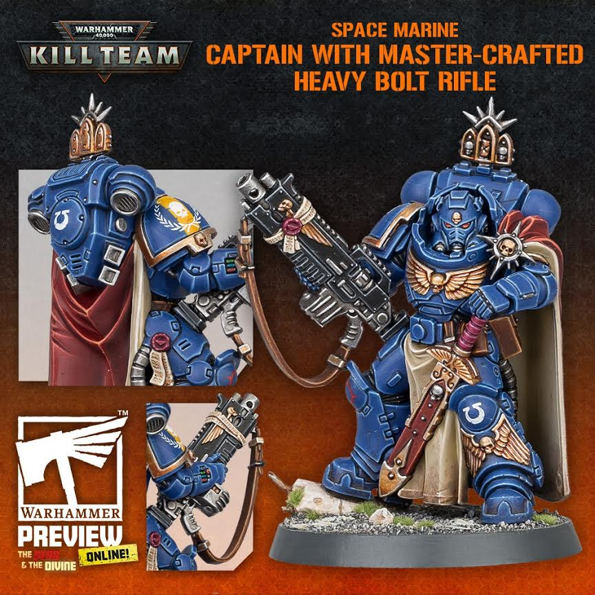 Captain With Master Crafted Heavy Bolt Rifle - Warhammer 40K