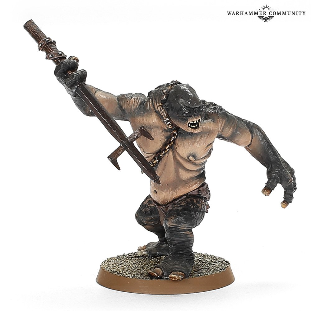 Cave Troll With Spear - Middle-earth Strategy Battle Game