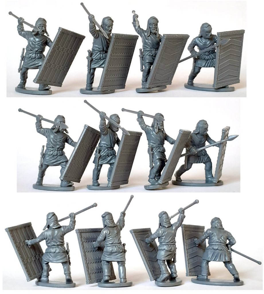 Finished Persian Unarmoured Spearmen #3 - Victrix