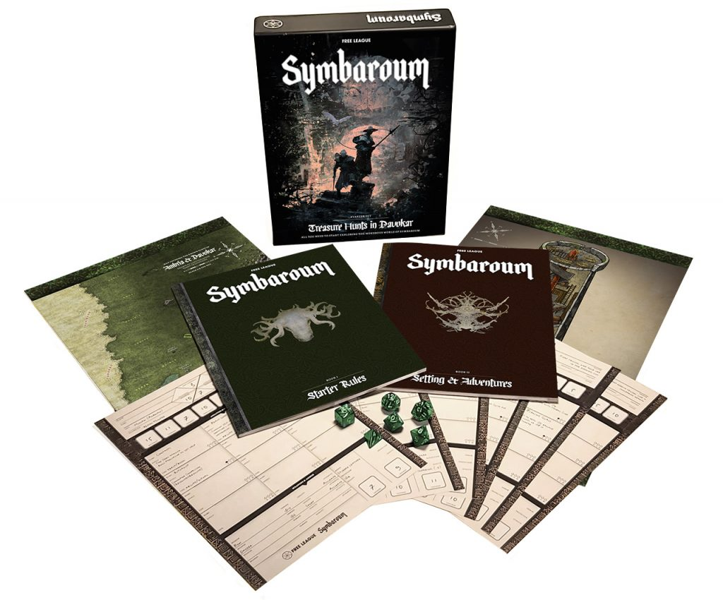 Symbaroum Starter Set Contents - Free League Publishing