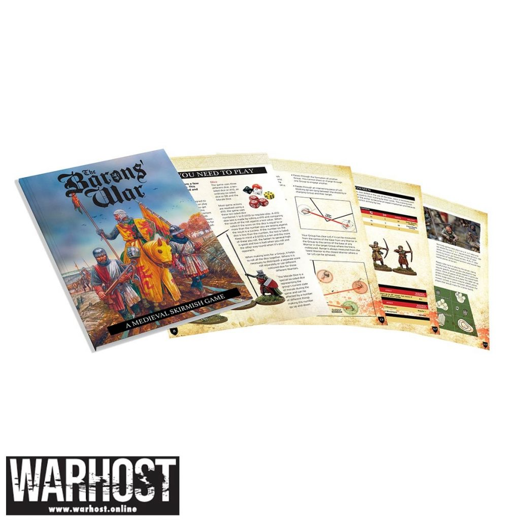 The Barons War Rulebook Spread - Footsore Miniatures & Games