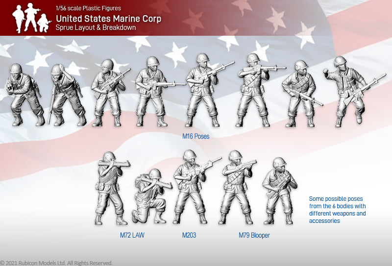 United States Marine Corp Examples - Rubicon Models