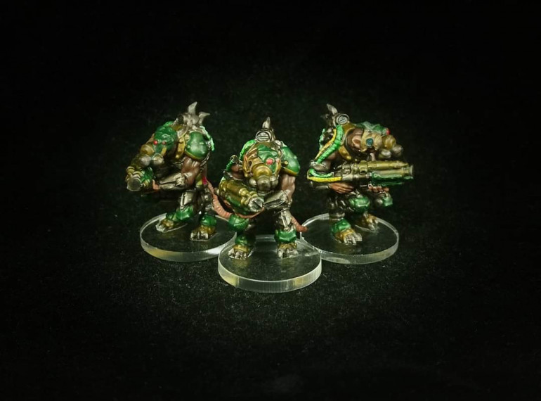 Trappers painted by Paul