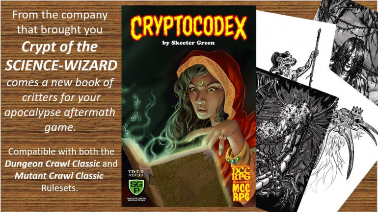 Cryptocodex, critters for your apocalyptic aftermath game
